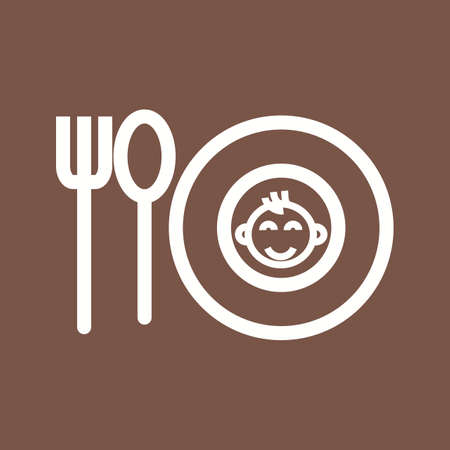 Food, baby, bowl icon vector image.Can also be used for baby. Suitable for mobile apps, web apps and print media. Illustration