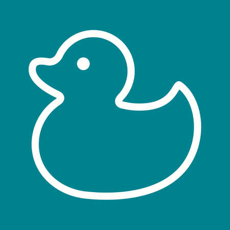 squeak: Duck, rubber, toy icon vector image.Can also be used for baby. Suitable for mobile apps, web apps and print media.