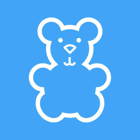 stuffed: Bear, teddy, stuffed icon vector image.Can also be used for baby. Suitable for mobile apps, web apps and print media. Illustration
