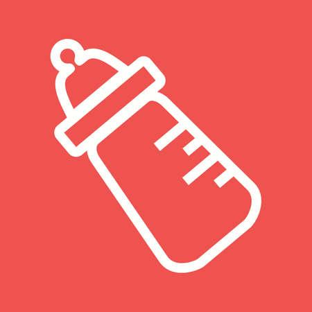 teteros: Leche, botella, icono del beb� del vector image.Can tambi�n se puede utilizar para el beb�. Adecuado para aplicaciones m�viles, aplicaciones web y medios impresos.