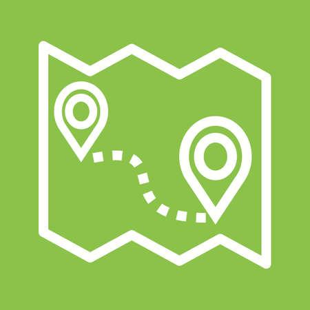 distance: Map, roadmap, route icon vector image.Can also be used for maps & navigation. Suitable for mobile apps, web apps and print media.