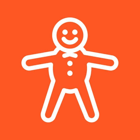 gingerbread cake: Gingerbread, delicious, baked icon vector image. Can also be used for bakery. Suitable for use on web apps, mobile apps and print media. Illustration