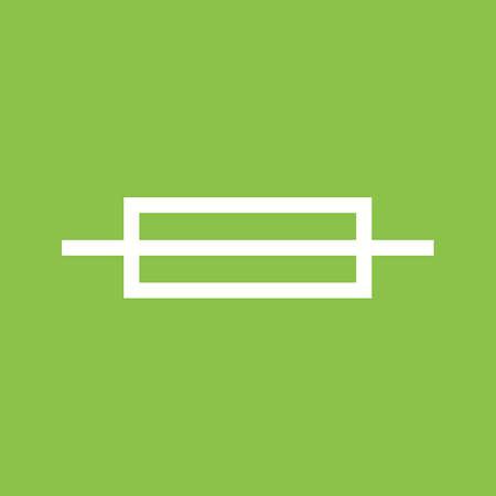 Sicherung, Box, Elektrische Symbol Vektor-Bild. Kann Auch Für ...