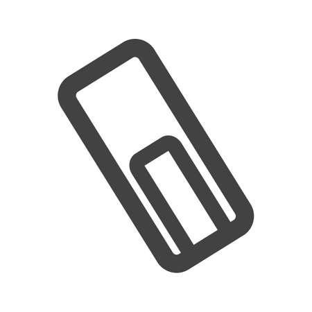 attach: Adjuntar, archivo de texto icono vector también image.Can ser utilizado para la edición de texto. Adecuado para aplicaciones móviles, aplicaciones web y medios impresos.