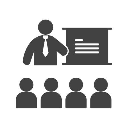 lecture hall: College, classroom, lecture icon vector image. Can also be used for humans. Suitable for use on web apps, mobile apps and print media.