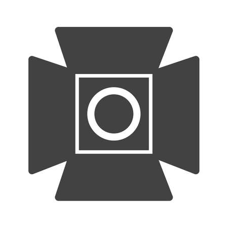 news flash: Camera, lights, stage icon vector image. Can also be used for photography. Suitable for use on web apps, mobile apps and print media.