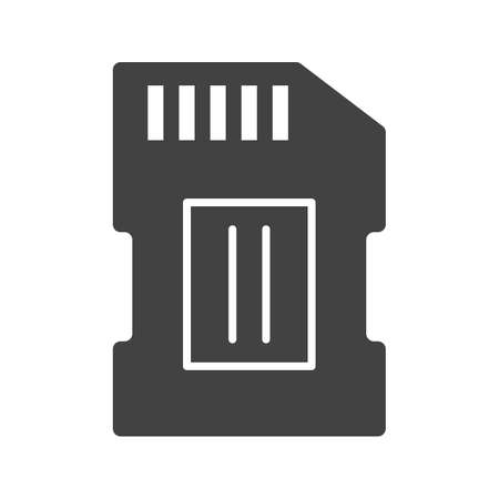 micro chip: Camera, sd, card icon vector image. Can also be used for photography. Suitable for use on web apps, mobile apps and print media.