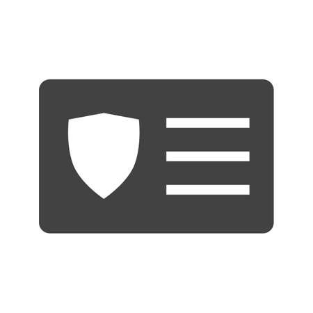access card: Card, identity, access icon vector image.Can also be used for security. Suitable for mobile apps, web apps and print media.