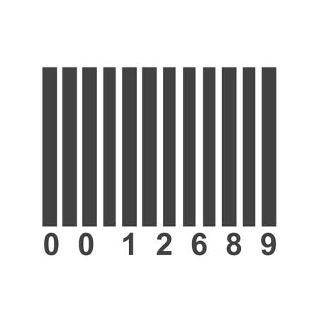 barcode scanner: Barcode, scanner, label icon vector image. Can also be used for security. Suitable for use on web apps, mobile apps and print media. Illustration