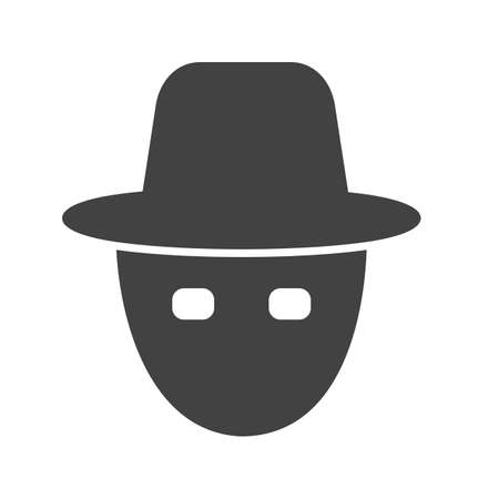 robberies: Mask, robbery, hacker rain, protection icon vector image. Can also be used for security. Suitable for use on web apps, mobile apps and print media.