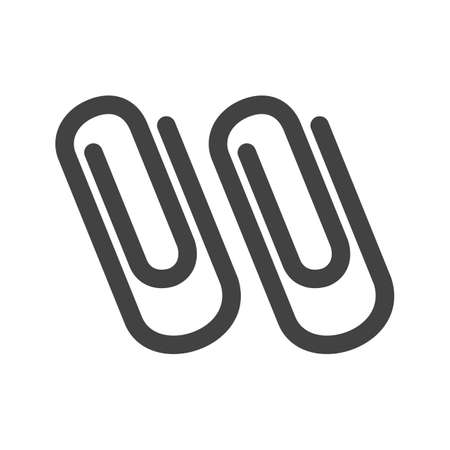 attached: Clip, paper, attached icon vector image. Can also be used for stationery. Suitable for use on web apps, mobile apps and print media. Illustration