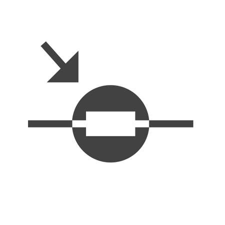 Light, circuit, resistor icon vector image. Can also be used for electric circuits. Suitable for use on web apps, mobile apps and print media.