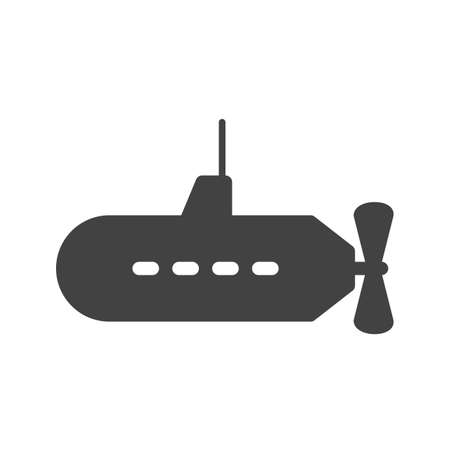 parachuting: Submarine, parachuting, ship icon vector image. Can also be used for sea. Suitable for use on web apps, mobile apps and print media.