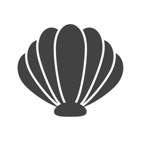 Zee, shell, pictogram vector strand. Kan ook worden gebruikt voor de zeevaart. Geschikt voor gebruik op het web apps, mobiele apps en gedrukte media. Vector Illustratie