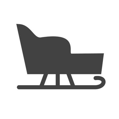 snow sled: Sled, seat, snow icon vector image.Can also be used for winter. Suitable for use on web apps, mobile apps and print media.