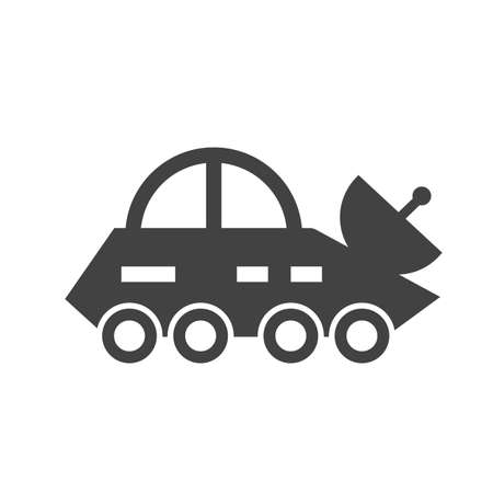 transmitting: Vehicle, news, broadcast icon vector image.Can also be used for astronomy. Suitable for use on web apps, mobile apps and print media. Illustration