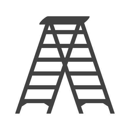 tall: Ladder, tall, construction icon vector image.Can also be used for tools. Suitable for mobile apps, web apps and print media. Illustration