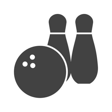 alleys: Ball, bowling, pins icon vector image. Can also be used for games & entertainment. Suitable for web apps, mobile apps and print media.
