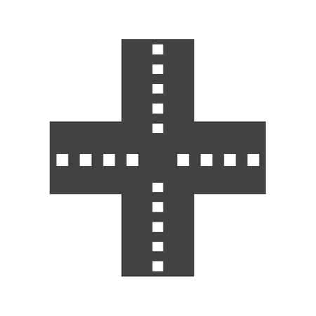 interchange: Highway, road, link icon vector image. Can also be used for maps & navigation. Suitable for mobile apps, web apps and print media.