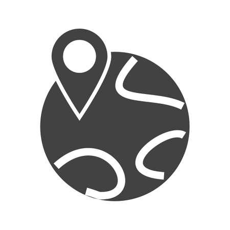 Mondo, mappa, immagine icona del vettore individuare. Può essere utilizzato anche per le mappe e la navigazione. Adatto per applicazioni mobili, applicazioni web e supporti di stampa.