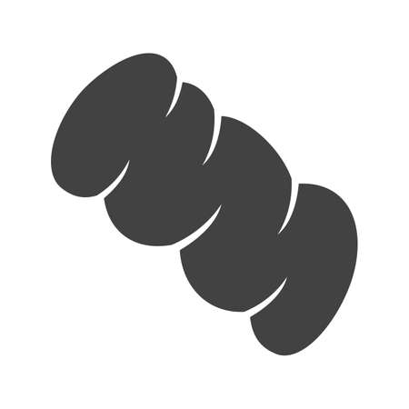 braiding: Braided, bread, bake icon vector image. Can also be used for bakery. Suitable for use on web apps, mobile apps and print media. Illustration