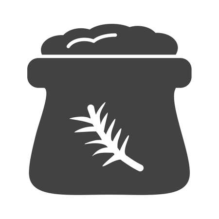 oats: Flour, white, wheat icon vector image. Can also be used for bakery. Suitable for use on web apps, mobile apps and print media.