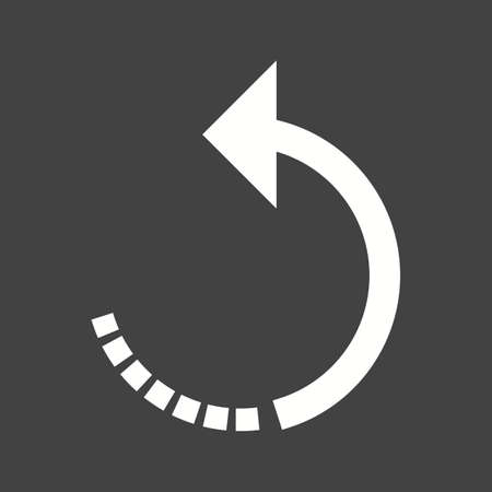Rotate, camera, left icon vector image. Can also be used for picture editing. Suitable for use on web apps, mobile apps and print media.