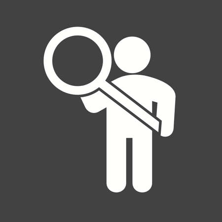 investigating: Search, magnifying, glass icon vector image. Can also be used for humans. Suitable for use on web apps, mobile apps and print media.