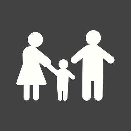 Parents, family, child icon vector image. Can also be used for humans. Suitable for use on web apps, mobile apps and print media.