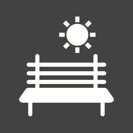 garden chair: Bench, park, wooden icon vector image. Can also be used for outdoor fun. Suitable for use on web apps, mobile apps and print media.