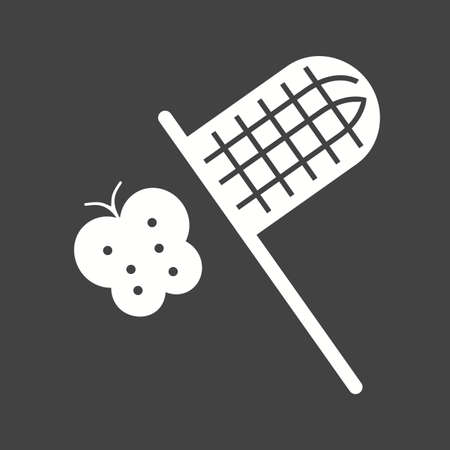 capturing: Butterfly, net, catching icon vector image. Can also be used for outdoor fun. Suitable for use on web apps, mobile apps and print media.