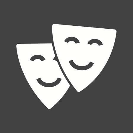 niños actuando: Teatro, actuación, la imagen del vector icono del cine. También se puede utilizar para la diversión al aire libre. Adecuado para su uso en aplicaciones web, aplicaciones móviles y material de impresión. Vectores