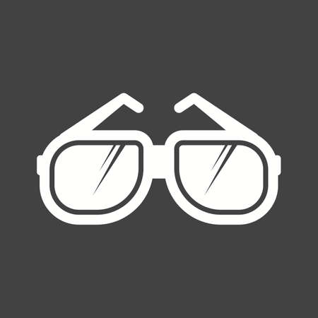 eye glasses: Glasses, eye, wear icon vector image.Can also be used for photography. Suitable for mobile apps, web apps and print media.