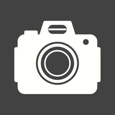 dslr: Camera, dslr, canon icon vector image. Can also be used for photography. Suitable for use on web apps, mobile apps and print media.