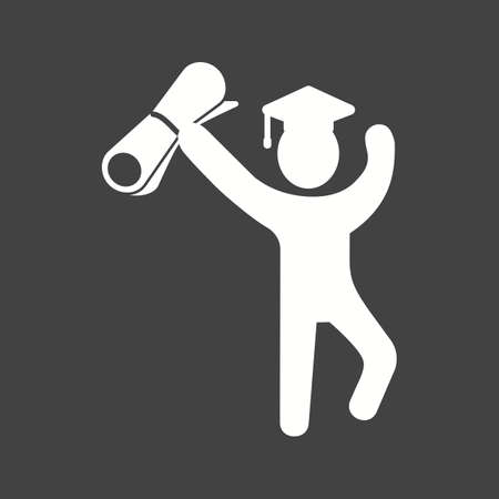 schooling: Graduation, students, education icon vector image. Can also be used for schooling. Suitable for use on web apps, mobile apps and print media.