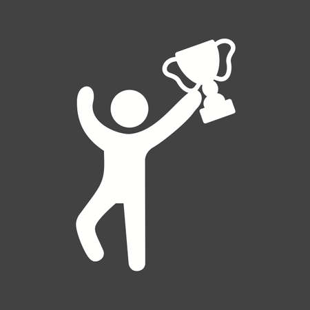 schooling: Winner, cup, trophy icon vector image. Can also be used for schooling. Suitable for use on web apps, mobile apps and print media. Illustration