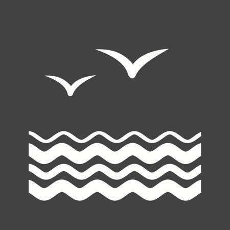 formation: Birds, water, flock icon vector image. Can also be used for sea. Suitable for use on web apps, mobile apps and print media.