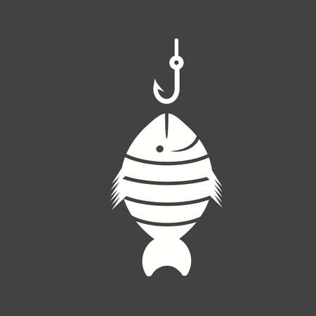 fisher: Fish, fishing, fisherman icon vector image. Can also be used for sea. Suitable for use on web apps, mobile apps and print media.