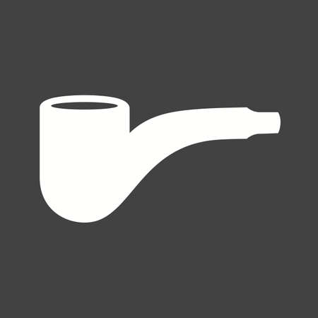 pipe smoking: Pipe, smoking, smoke icon vector image. Can also be used for hipster. Suitable for use on web apps, mobile apps and print media. Stock Photo
