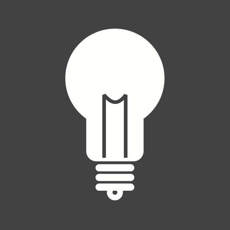 contemplate: Bulb, idea, creative icon vector image.