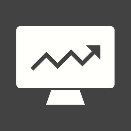 estimating: Market, analysis, search icon vector image.