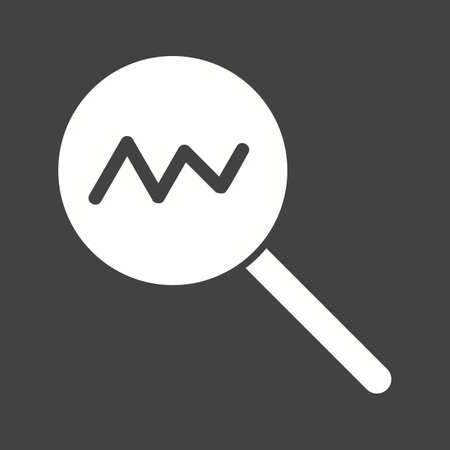 estimating: Statistics, analysis, chart icon vector image. Can also be used for marketing. Suitable for use on web apps, mobile apps and print media. Illustration