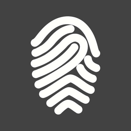 biometric: Fingerprint, print, unique icon vector image.Can also be used for security. Suitable for mobile apps, web apps and print media.
