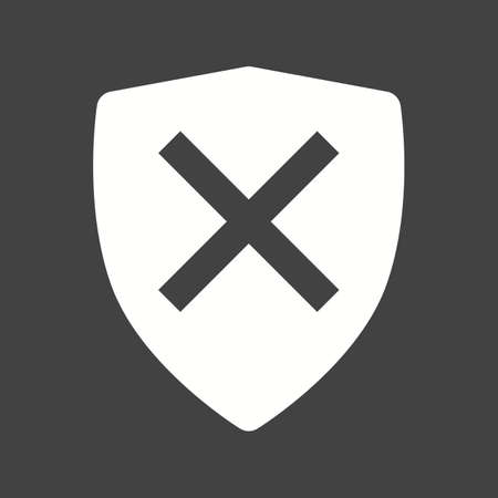 unsafe: Unprotected, unsafe, alert  icon vector image.Can also be used for security. Suitable for mobile apps, web apps and print media.
