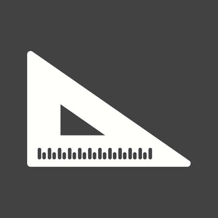 millimeters: Ruler, triangle, work icon vector image.Can also be used for stationery. Suitable for mobile apps, web apps and print media. Illustration