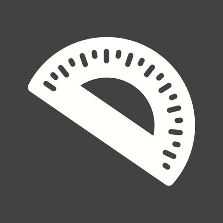 centimeters: Geometry, maths, protractor icon vector image. Can also be used for stationery. Suitable for use on web apps, mobile apps and print media.