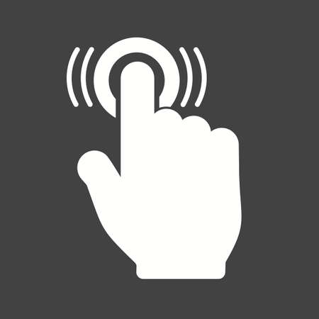 double tap: Double, tap, click icon vector image.Can also be used for user touch gestures. Suitable for mobile apps, web apps and print media.