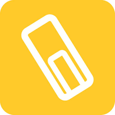 attach: Attach, file, text icon vector image.Can also be used for text editing. Suitable for mobile apps, web apps and print media.