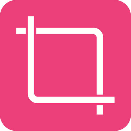 screenshot: Picture, crop, video icon vector image. Can also be used for picture editing. Suitable for use on web apps, mobile apps and print media. Illustration