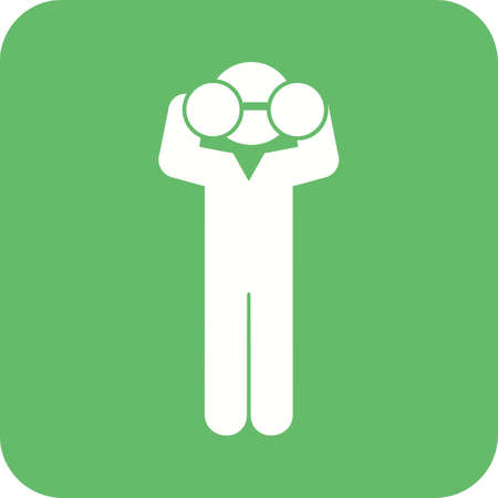 binoculars view: Binoculars, telescope, man icon vector image. Can also be used for humans. Suitable for use on web apps, mobile apps and print media. Illustration
